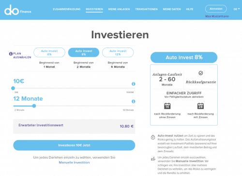 Der Autoinvestor bei der P2P Kredite Plattform