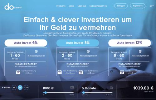 Die DoFinance Webseite