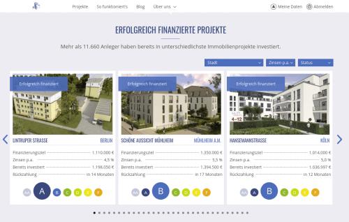 Exporo Immobilien Projekte