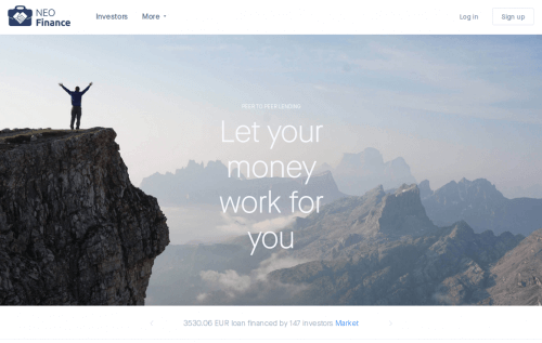 NEO Finance P2P Marketplace Startseite Kredite