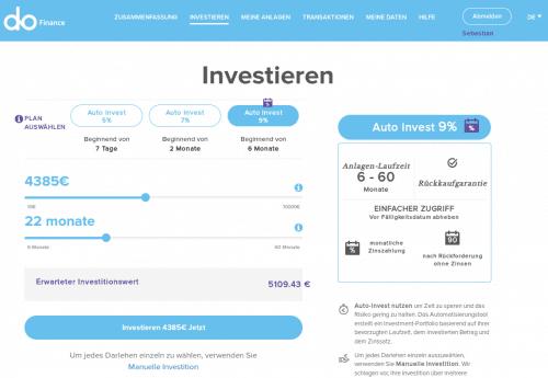 Der Autoinvestor mit seinen drei Anlageoptionen